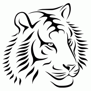Tattoo design: Tiger 2