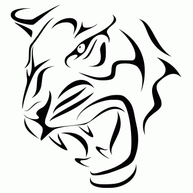 Tattoo design: Tiger 3