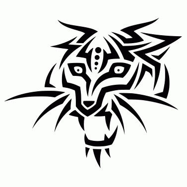 Tattoo design: Tiger 5